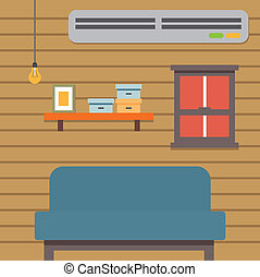 Flat Illustration Living Room