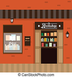 Flat Illustration Book Store