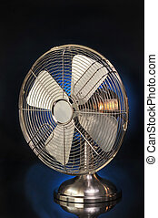 Old Style Fan - Fan on Blue Background
