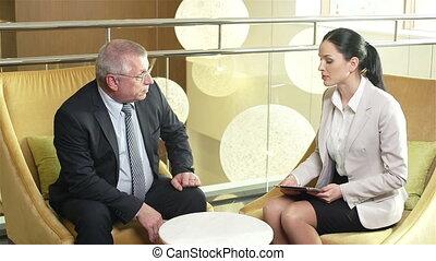 No-Nonsense Conversation - Young girl demonstrating charts...