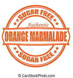 Orange marmalade - Stamp with text orange marmalade inside,...