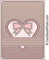 Love card in vintage style, vector