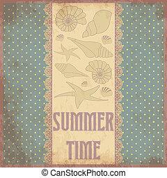 Summer time scrap card in vintage