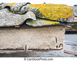 roofing cement and asbestos - Particular gutter cover slabs...