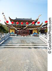 Chinese Temple in Moganshan - Mahavira Hall temple in...