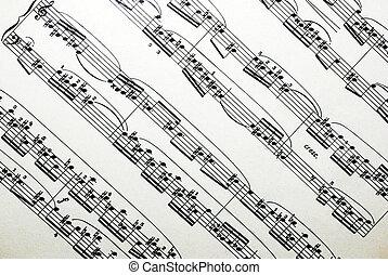 Musical sheet.