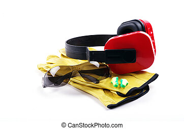 personal protective equipment - ear mufflers with work...
