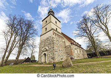 old church in the small village of Benz in Usedom