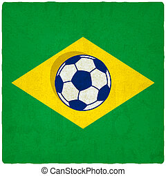 Brazil soccer old background
