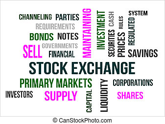 STOCK EXCHANGE - A word cloud of Stock Exchange related...