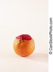 Orange with cap
