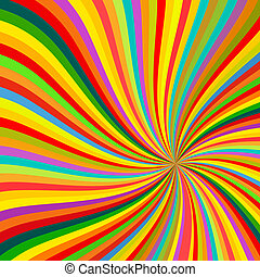 Abstract Colorful lines rotation Background vector...