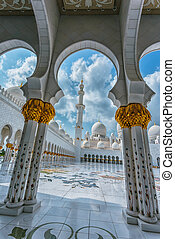 The Shaikh Zayed Mosque - ABU DHABI, UAE - NOV 5: The Shaikh...