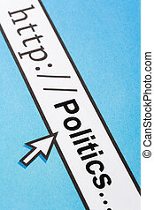 politics - Computer Screen, concept of online politics