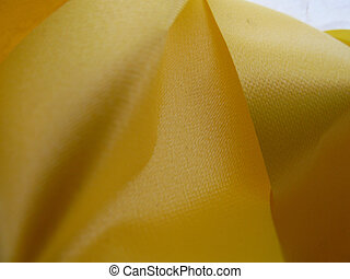 Yellow ribbon - Bright thick yellow ribbon as a background