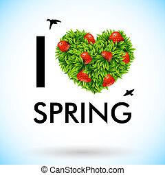 I love spring. Vector illustration.
