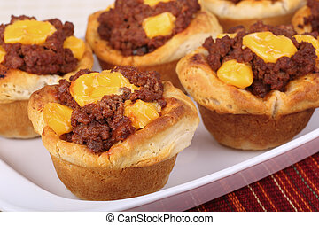 Sloppy Joe Biscuits - Sloppy joe in a biscuit with melted...