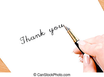 Thank you - Fountain pen writing thank you!