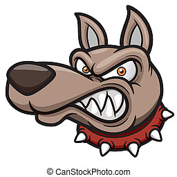 Angry dog - Vector illustration of Angry cartoon dog