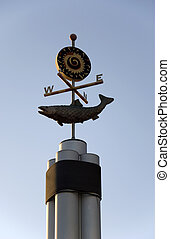 Weather vane - Decorative weather vane that marks the...