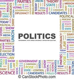 POLITICS Concept illustration Graphic tag collection...