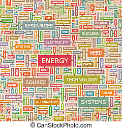 ENERGY Seamless pattern Concept related words in tag cloud...