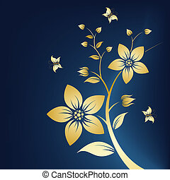 Floral background - Abstract Floral Background with...