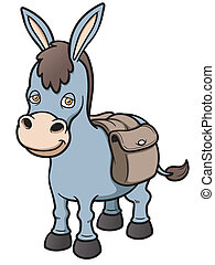 Burro - Vector illustration of Cartoon burro