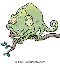 Chameleon - Vector illustration of Cartoon Chameleon