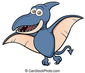 Pteranodon - Vector illustration of Cartoon pteranodon