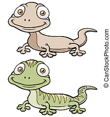 Gecko - Vector illustration of Gecko cartoon