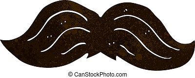 cartoon mustache