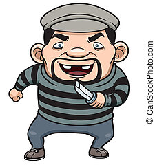 Thief - Vector illustration of cartoon thief