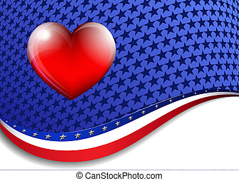 Stars and Stripes Background - Stars and Stripes Heart