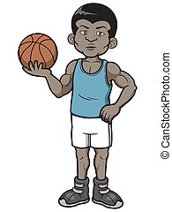 Basketball player - Vector illustration of cartoon...