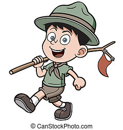 Scout - Vector illustration of boy scout