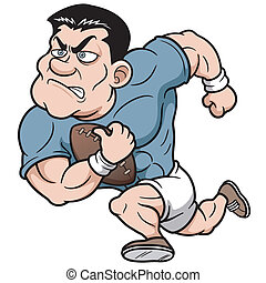Rugby player - Vector illustration of Cartoon Rugby player