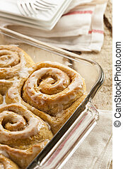 Homemade Cinnamon Roll Sticky Buns with Icing