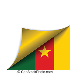 Cameroon Country Flag Turning Page - Vector - Cameroon...