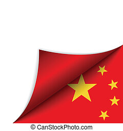 China Country Flag Turning Page - Vector - China Country...
