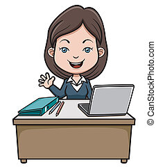 Business woman - Vector illustration of A business woman...