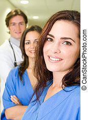 Doctor and nurse - Group portrait of doctors and nurses in...