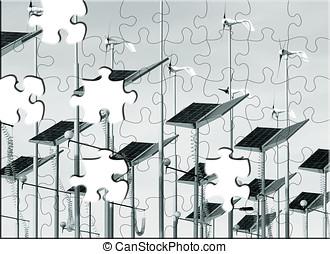 Alternative energy puzzle