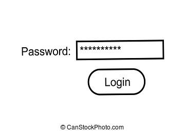 Internet password - Simple internet password concept over...