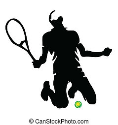 tennis player vector illustration