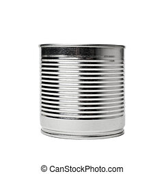 Tin can on white background - Tin can isolated on white...