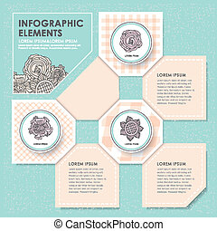creative flower infographics design - vector illustration...