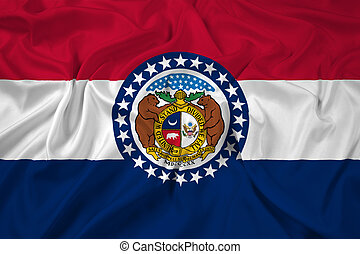 Waving Missouri State Flag
