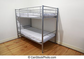 Bunk bed - Simple bunk bed in the corner of a room