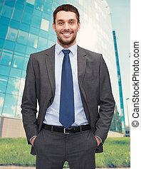 handsome businessman - business concept - handsome...